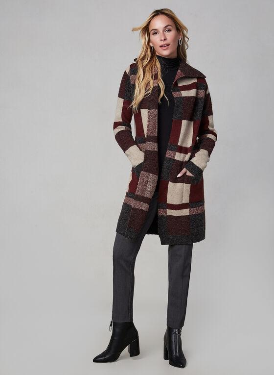 Alison Sheri – Colour Block Knit Cardigan, Red