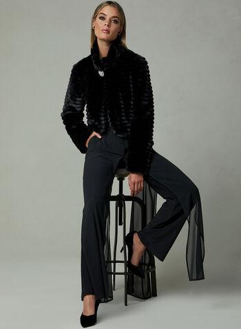 Frank Lyman - Faux Fur Bolero , Black, hi-res