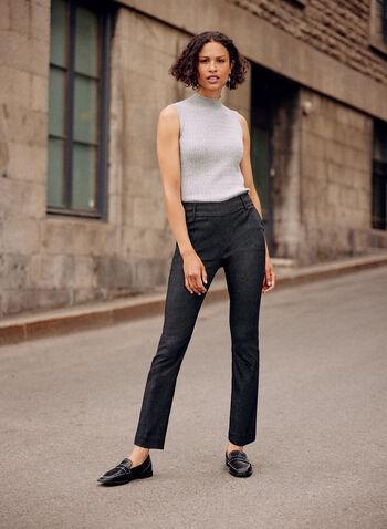 Straight Leg Pull-On Pants, Black,  fall winter 2020, pull-on, pants, flare leg, straight leg, holiday, holiday 2020, pockets