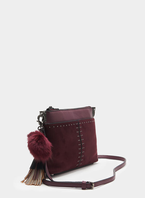 CÉLINE DION - Faux Suede Clutch, Red, hi-res