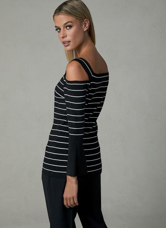 Elena Wang - Cold Shoulder Sweater, Black, hi-res