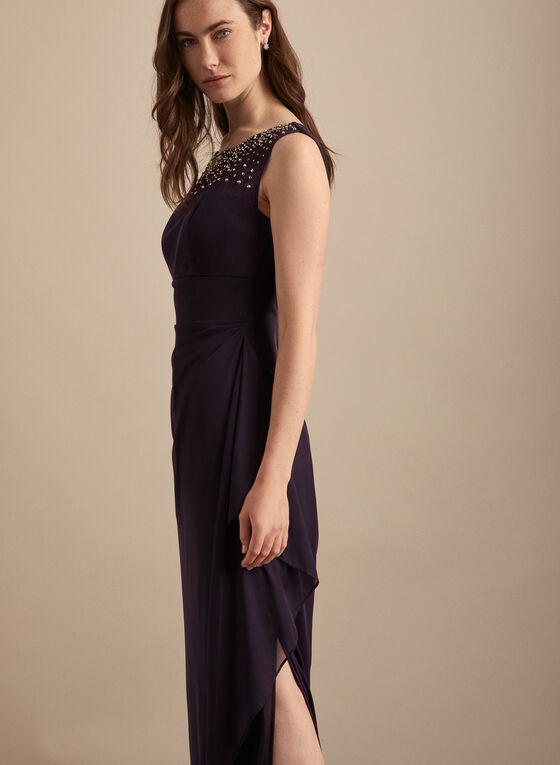 Alex Evenings - Illusion Neckline Evening Dress, Purple