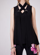 Joseph Ribkoff - Mock Neck Sleeveless Top, Black, hi-res