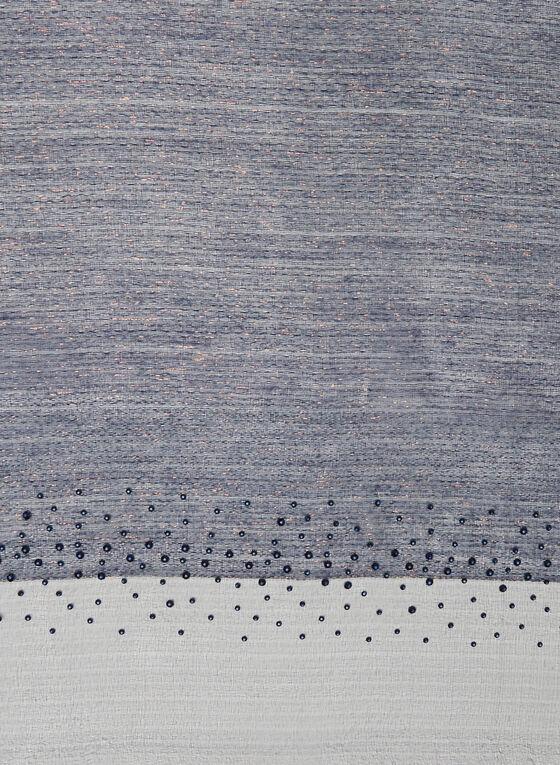 Foulard métallisé à cristaux, Bleu