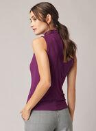 Sleeveless Turtleneck Top, Purple