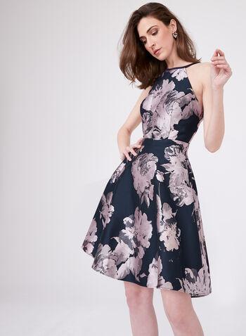 Xscape - Fit & Flare Dress , Blue, hi-res