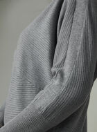 Dolman Sleeve Knit Sweater, Grey, hi-res