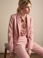Notched Collar Blazer, Pink