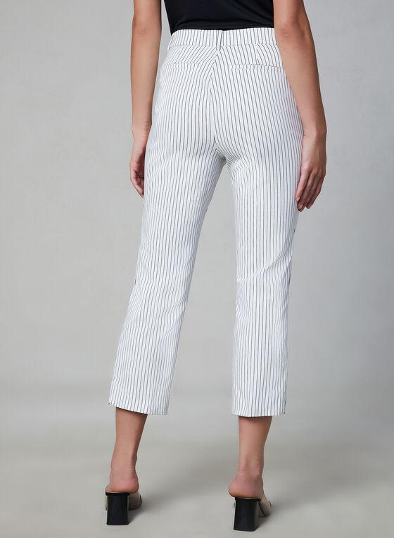 Jules & Leopold - Stripe Print Capri Pants, White
