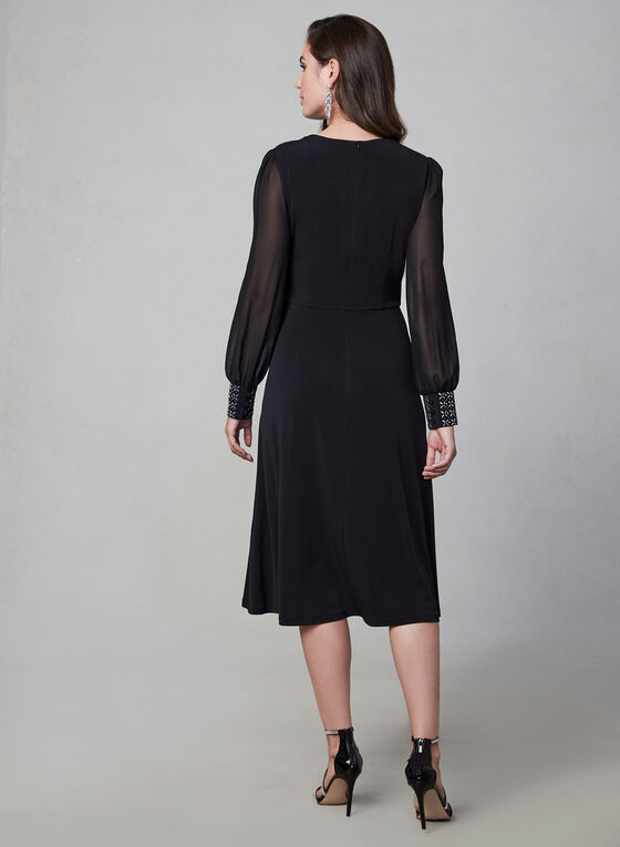 Maggy London - Long Sleeve Dress, Black