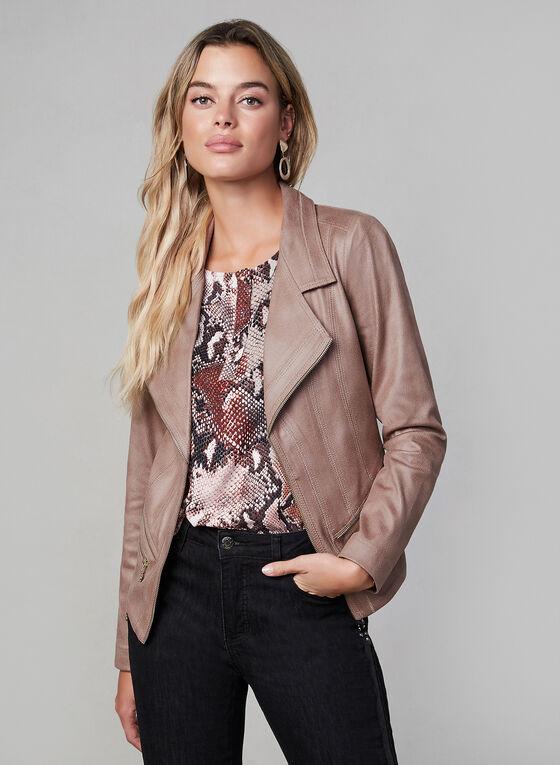 Vex - Faux Suede Jacket, Pink