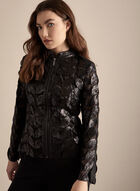 Joseph Ribkoff - Leaf Detail Mesh Jacket, Black