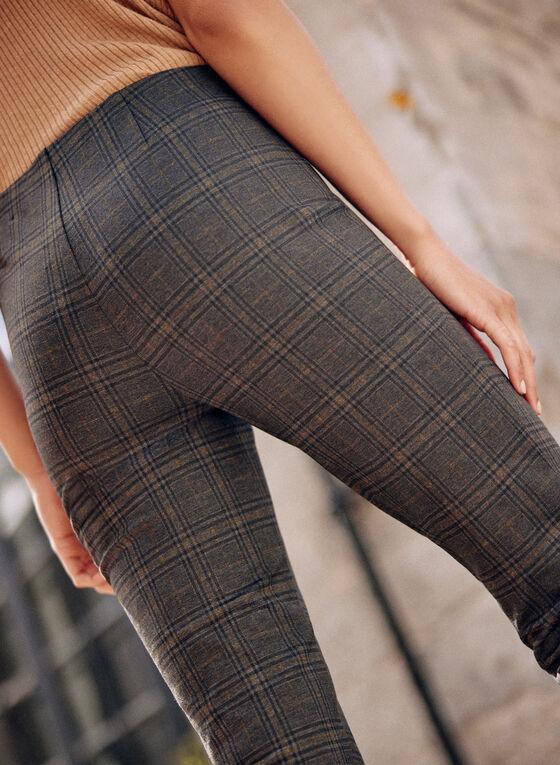 Amber Plaid Slim Leg Pants, Green