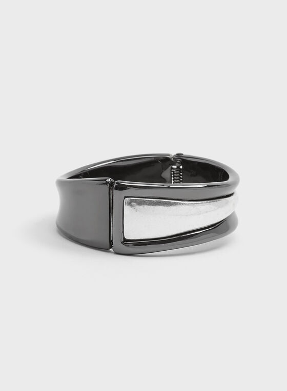 Robert Lee Morris - Bracelet rigide bicolore, Gris, hi-res