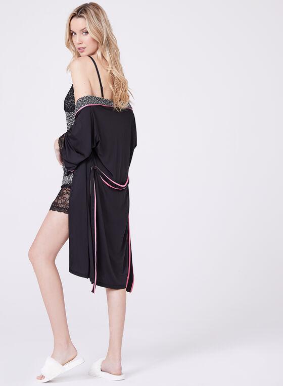 Nanette Lepore – Baroque Print Nightgown Robe Set, Black, hi-res