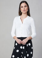 Karl Lagerfeld Paris - Boléro à boutons perlés, Blanc cassé, hi-res