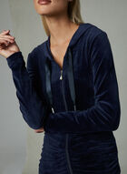 Frank Lyman - Ruched Pearl Embellished Top, Blue, hi-res