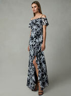Cachet - Off The Shoulder Ruffle Dress, Black, hi-res