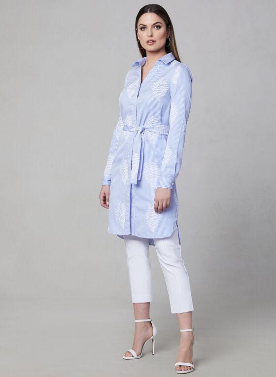 Linea Domani - Tunique rayée à broderies, Bleu