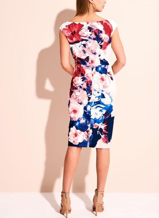 Jax Floral Print Scuba Dress, Multi, hi-res