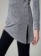 Cowl Neck Tunic Top, Grey, hi-res