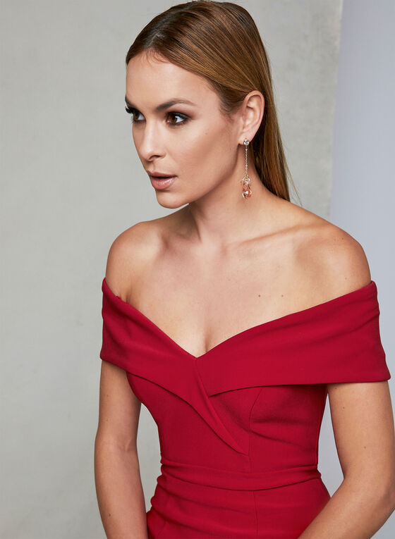 BA Nites - Off The Shoulder Dress, Red