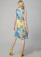 Maggy London - Mosaic Print A-Line Dress, Blue, hi-res