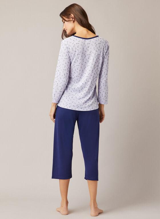 Ensemble pyjama à boutons, Violet