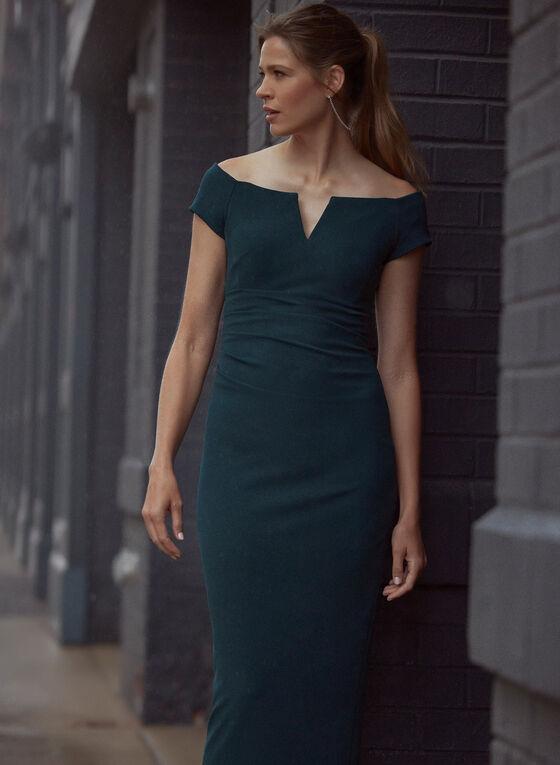BA Nites - Off-the-Shoulder Gown, Green