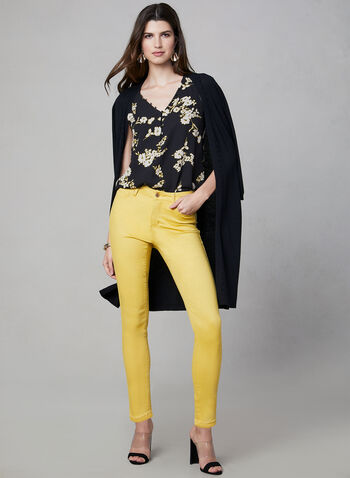 Slim Leg Jeans, Yellow, hi-res