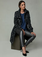 Funnel Neck Tapestry Coat, Grey, hi-res