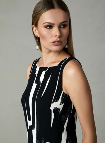 Maggy London - Abstract Print Sleeveless Dress, Black, hi-res