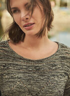 Vince Camuto - Open Weave Cotton Sweater , Black