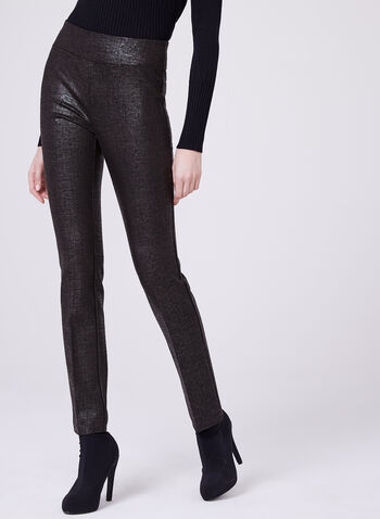 Insight - Pantalon pull-on jambe droite en point de Rome irisé, , hi-res