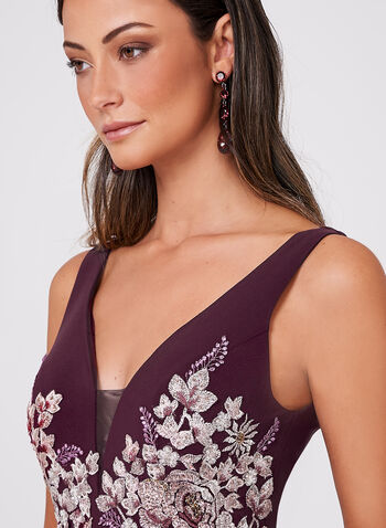 BA Nites - Crystal Embellished Lace Embroidered Dress, Multi, hi-res