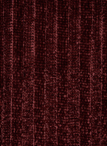 Chenille Knit Scarf, Red, hi-res,