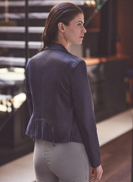 Vex - Blazer en faux cuir, Bleu