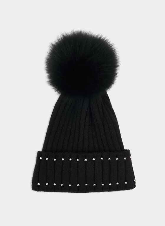 Beaded Tuque, Black
