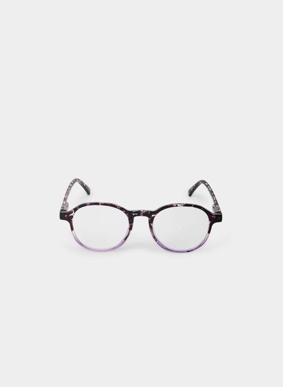 Round Eyeglasses, Purple