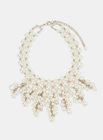 Collier de perles à rangs multiples, Blanc cassé, hi-res