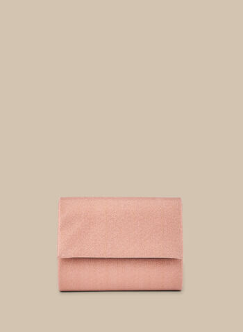 Glitter Square Clutch , Pink,  clutch, evening clutch, metallic, glitter, flap clutch, spring 2020, summer 2020