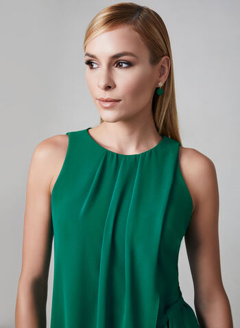 Kensie - Asymmetric Faux Wrap Dress, Green, hi-res