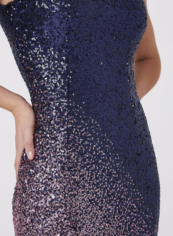 Cachet - Ombré Sequin Dress, Multi, hi-res
