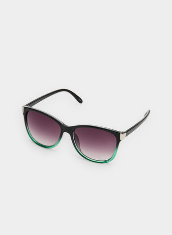 Two Tone Sunglasses , Green, hi-res