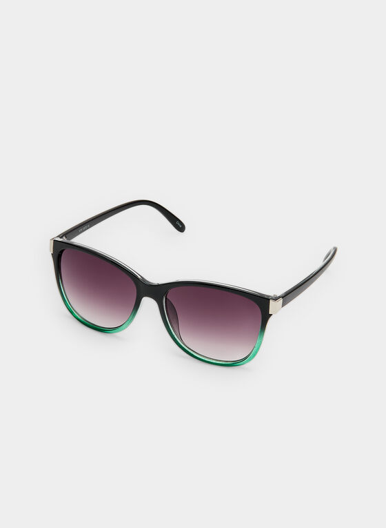 Two Tone Sunglasses , Green, hi-res