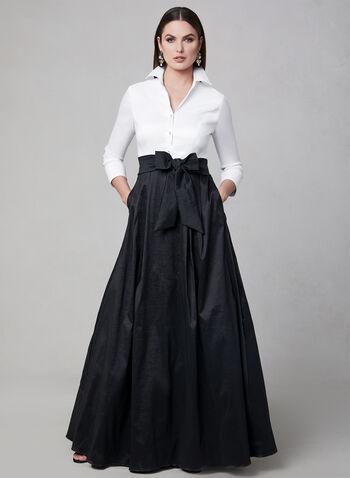 Emma Street - Taffeta Gown, Black, hi-res