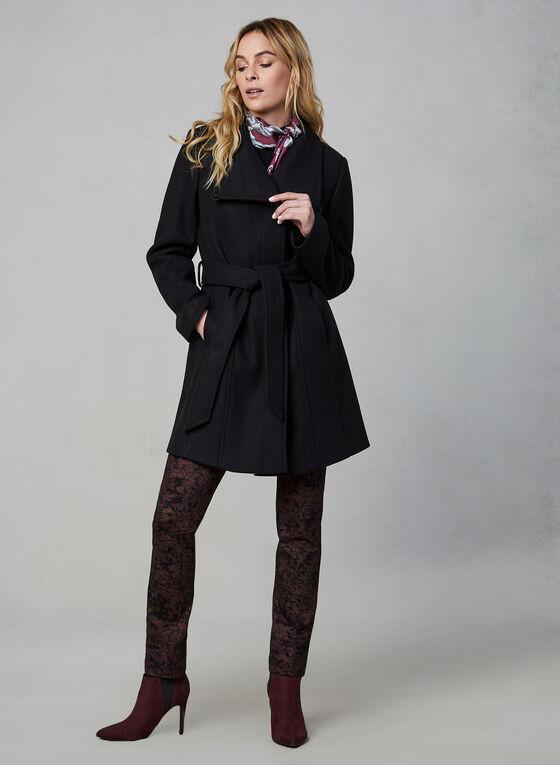 Portrait - Manteau à ceinture, Noir