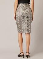 Snakeskin Print Skirt , Brown