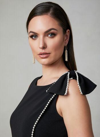 Karl Lagerfeld Paris - Robe à détails perles et nœud, Noir, hi-res
