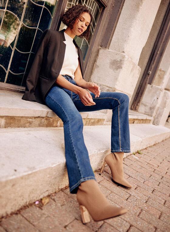 Jeans à jambe droite évasée , Bleu